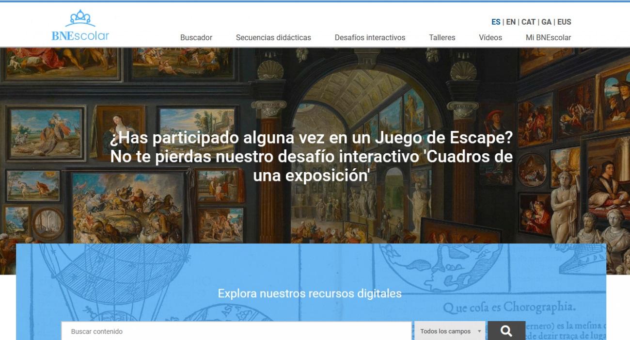 #BNEscolarMOOC - portal BNEscolar - Telar de Libros