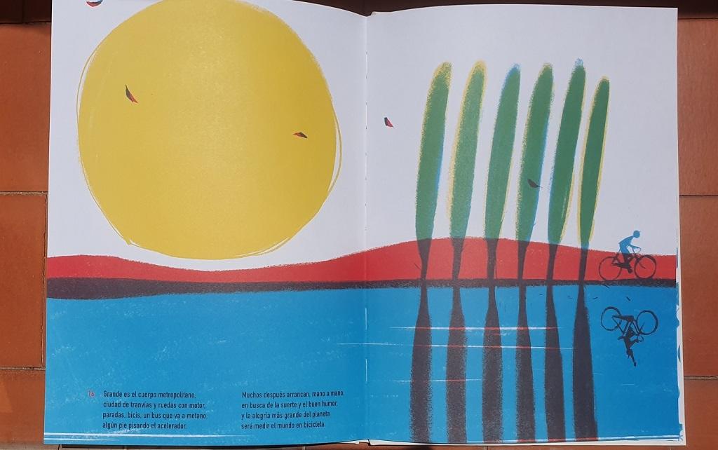 Sol - La Bicicleta Amarilla - Matteo Pelliti y Riccardo Guasco - reseñas de libros para niños - Telar de Libros