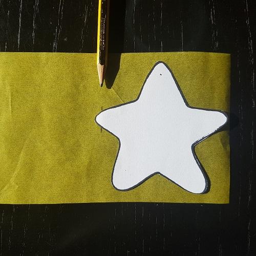 Calendario de Adviento Telar de Libros - paso 3a: marca el ancho del pliegue