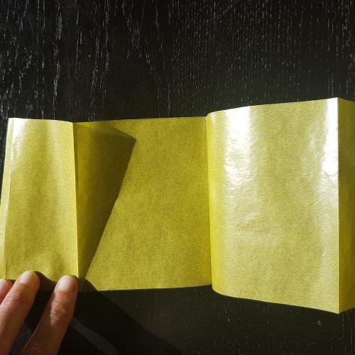 Calendario de Adviento Telar de Libros - paso 3c: pliega la tira en acordeón