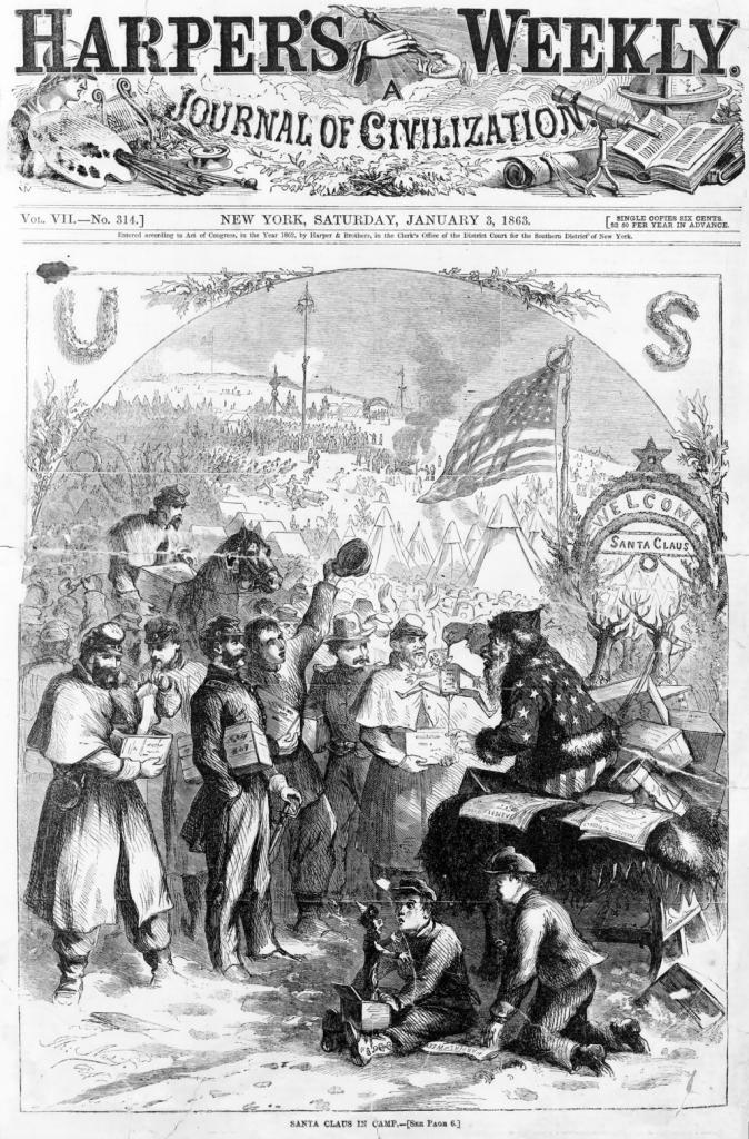Santa_Claus_1863_Harpers_Telar de Libros