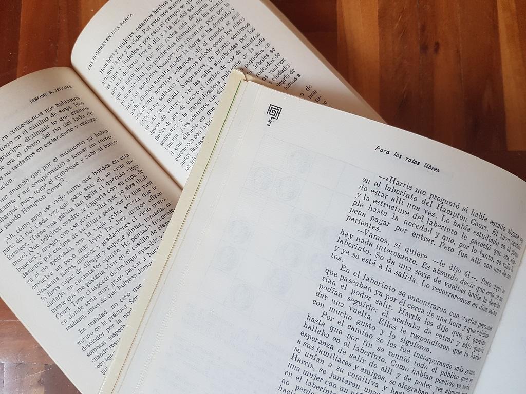 Tres hombres en una barca y Juegos y experimentos recreativos - opiniones sobre libros - Telar de Libros