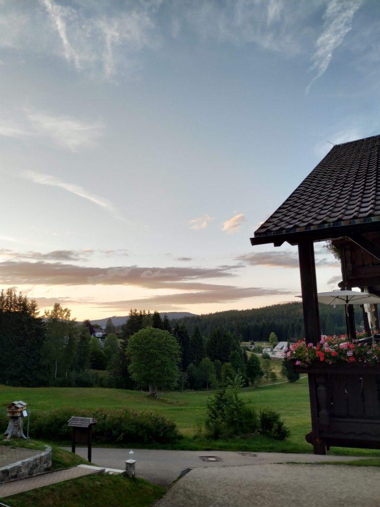puesta de sol desde Altglashütten - fotografía: Telar de Libros