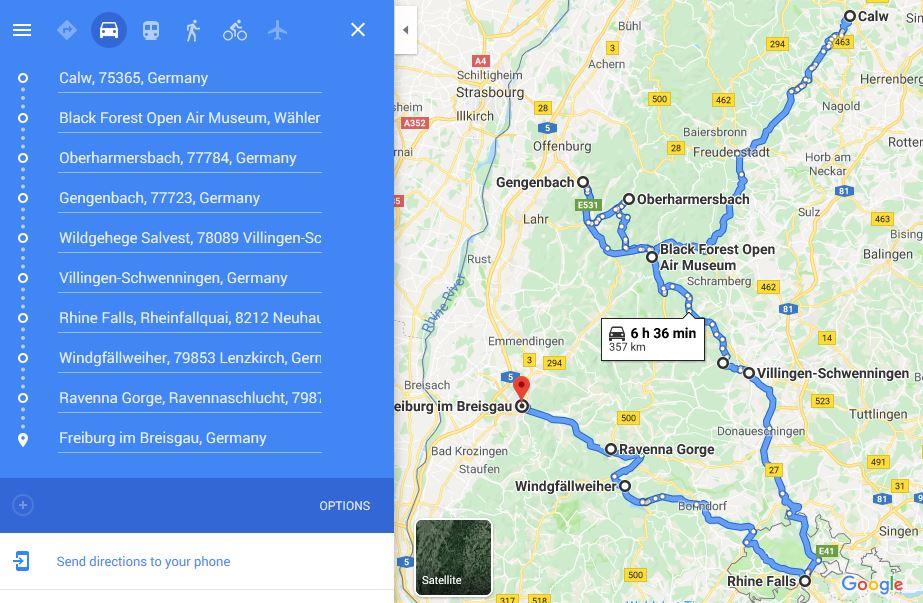 ruta autocaravana Selva Negra