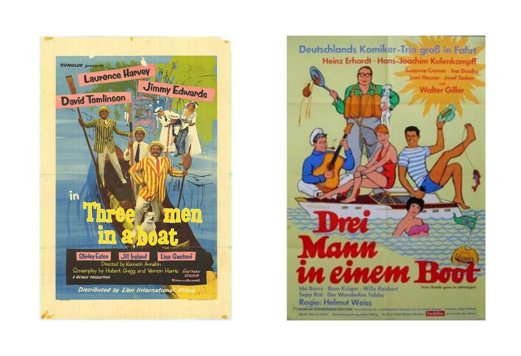 Tres hombres en una barca - películas y adaptaciones - Telar de Libros